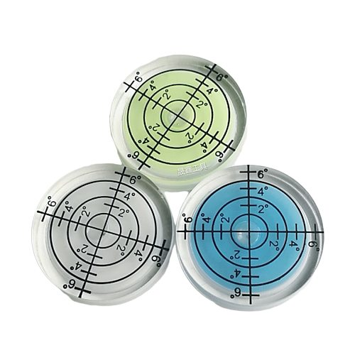 Pocket 32*7MM Mini White Yellow Red Color Bull seye Bubble level Round Level Bubble Accessories for Measuring Instrument