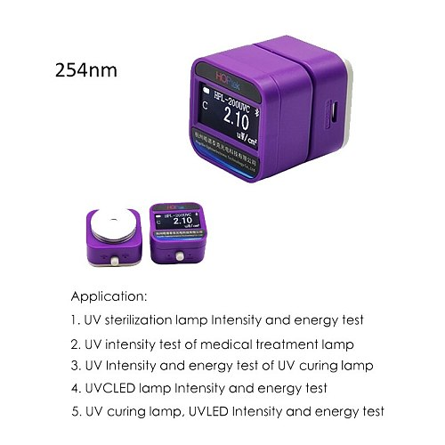 UVC Intensity HPL220UV2-254 Peak wavelength 254nm UV Mercury Meter