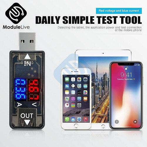 Mini 5V USB Current Voltage Meter Tester Red Blue Voltmeter Ammeter Detector Dual Digital 3.3-18V 0-3A For Mobile Phone Black