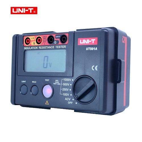 UNI-T Insulation Resistance Tester Meter UT501A Megger Earth Ground Resistance Voltage Tester Megohmmeter Voltmeter