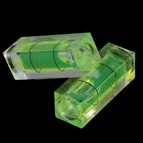2PCS 10*10*29 Mm Square Spirit Level Bubble With Magnetic Stripe / 1PC Bubble Spirit Degree Mark Surface Level Measuring Tool