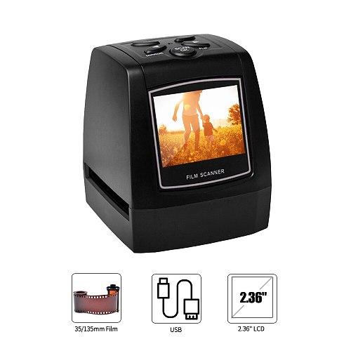 EC018 Digital 35/135mm Negative Slide Film Scanner Converter Photo Digital Image Viewer with 2.36  LCD Build-in Editing Softwar