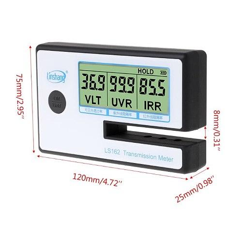 LS162 Window Tint Meter Solar Film Transmission Meter VLT UV IR Rejection Tester 875F