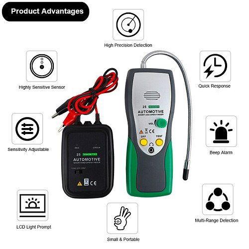 Car Automotive Short & Open Finder Circuit Finder Tester Electric Cable Finder Car Repair Tool Detector Tracer For Wire Or Cable