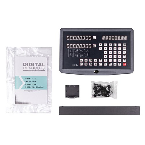 DRO 2 Axis digital readout with 2pcs 50-1020mm linear scale / linear encoder / linear ruler for milling lathe machine