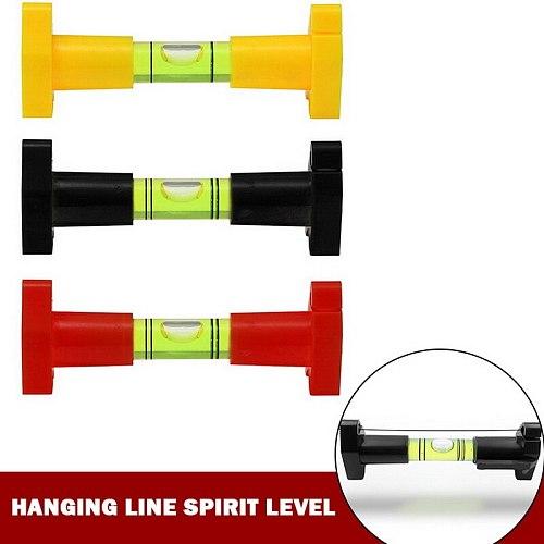 1pc Pocket Line Hanging Spirit Level Brick Rope Cord Wire String Bubble Hanger Black