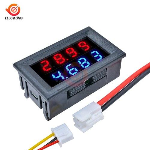 Mini Digital DC Voltmeter Ammeter Detector Adjustable DC 200V 100V 10A Voltage Current Meter Panel Power Supply Dual LED Display