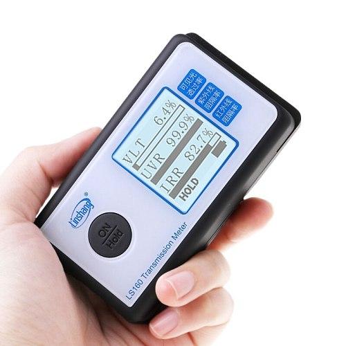 LS160 Portable Solar Film Transmission Meter Test Window Tint UV IR rejection visible light transmittance