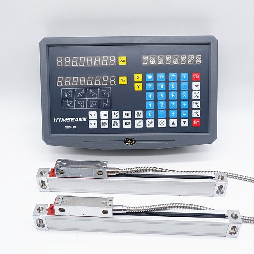 New SNS-2V 2 Axis DRO Digital Readout AC110V/220V Display and 2 Pieces 0-1000mm Linear Scale Encoder For Milling Lathe Machine
