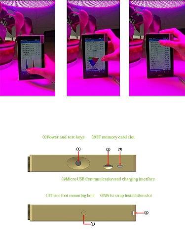 HOPOCOLOR light illuminance (lux) par ppfd(umol/m2/s) meter spectrometer spectrum analyzer OHSP350P