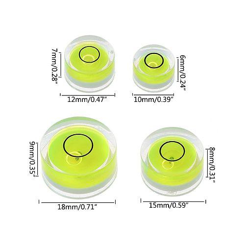 5pcs Round Bubble Level Mini Spirit Level Bullseye Level Measurement Instrument L69A