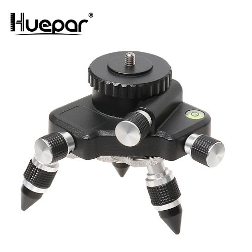 Laser Level Adapter Metal 360-Degree Rotating Base for Laser Level Tripod  Horizontal Bubble Micro-adjust FineTurning Pivoting