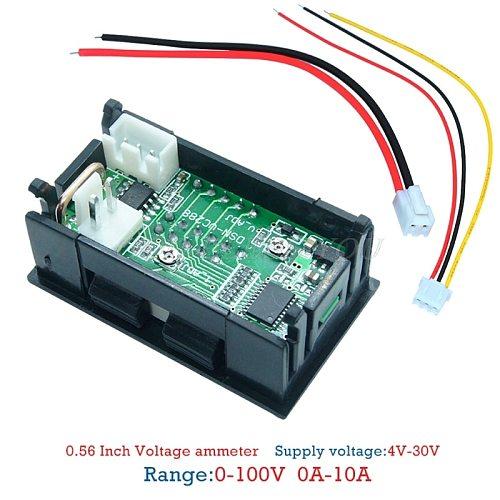 Digital Voltmeter Ammeter DC100V 10A Panel Amp Volt Voltage Current Meter Tester Drop Shipping