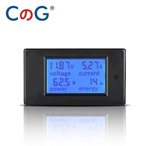 20A/50A/100A Digital Meter DC 6.5-100V Voltmeter Ammeter LCD 4 in 1 DC Voltage Current Power Energy Detector Amperimetro Shunt