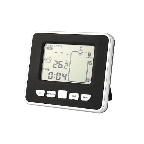 HOT!Ultrasonic Wireless Water Tank Liquid Depth Level Meter Sensor with Temperature Display with 3.3 Inch LED Display