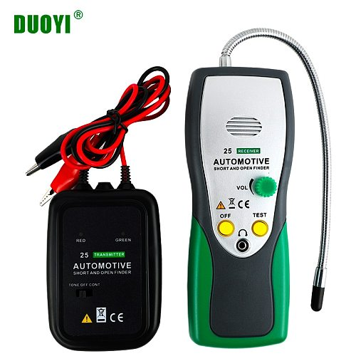 DUOYI DY25  Cable Tracker Automotive Short Open Circuit Finder Tester Car Repair Tool Tracer Diag 2 Wire Cables Type PK EM415pro