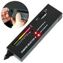 Practical Diamond Selector Diamond Hardness Tester Gemstone Selector II Gems LED Indicator Jewelry Testing Tool