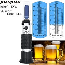 Beer Wort Refractometer Dual Scale - Specific Gravity 1.000-1.130 and Brix 0-32% Replaces Homebrew Hydrometer Sugar Meter 56%off