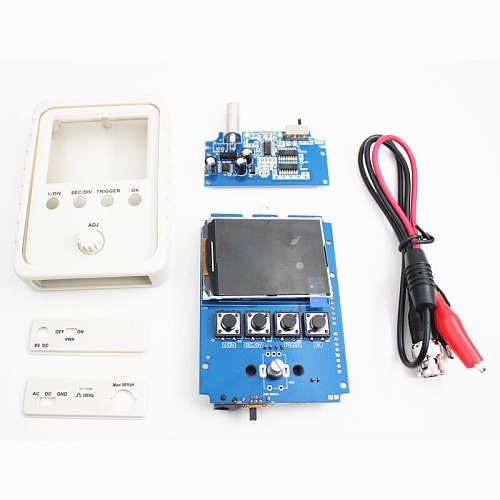 Digital Oscilloscope DIY Kit with Case Fully Soldered Electronic Learning Set 1MSa/s 0-200KHz 2.4  TFT Handheld Pocket-size