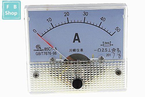 1PCS 85C1-A 1A 2A 3A 5A 10A 15A 20A 30A 50A 75A DC Analog Meter Panel AMP Current Ammeters Gauge