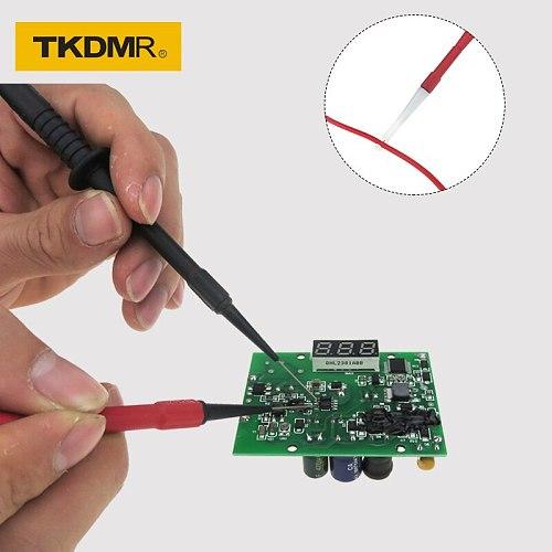TKDMR 4mm Socket Insulation Piercing Needle Non-destructive Back Probe Pin Test Probes Red/Black/Yellow/Green Mini Wire Piercer