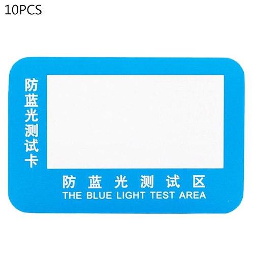 30pcs PVC Anti-Blue Light Test Card Test Light Glasses Blue Light Detection Card