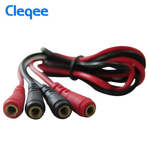 Cleqee Test Leads kit Replaceable Test wires Probes for digital Multimeter 4mm banana plug crocodile clips U type probe