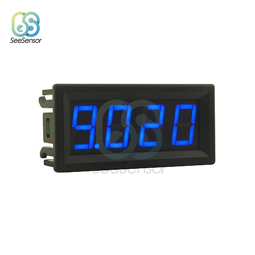 0-10A 0.56  4 Bit LED Digital Ammeter Current Panel Meter Gauge Current Instrument Tool Red Green Blue Display 0.56 inch