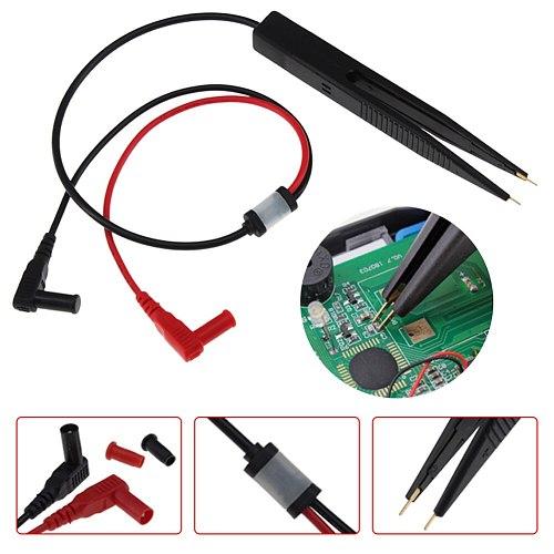 Multimeter Probe 10mm Car Digital Multimeter SMD Inductor Test Clip Meter Probe Tweezers for Resistor Multimeter Capacitor