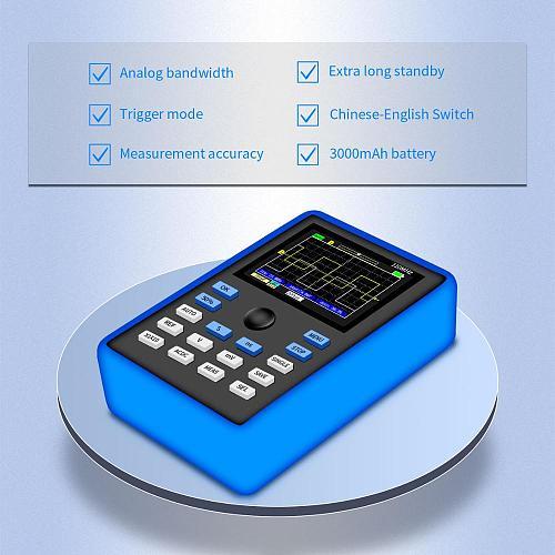 DSO1C15 Professional Digital Oscilloscope 500MS/s Sampling Rate 110MHz Analog Bandwidth Support Waveform Storage
