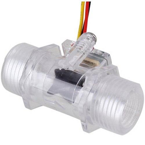 G1/2inch DN15 Transparent Water Flow Meter Flow Meter Hall Flow Sensor Indicator Counter Full Copper Water Flow Sensor