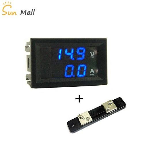 Mini 0.28inch  LED Digital Voltmeter Ammeter DC 100V 50A  Volt Ampere Meter Amperemeter Voltage Indicator Tester  with shunt