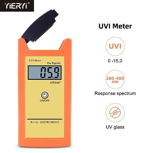 Yieryi Digital UVI Meter ± 10% REF. NIST High Precision Sun Index Tester UVI Ultraviolet Intensity Photometric Measurement Tool