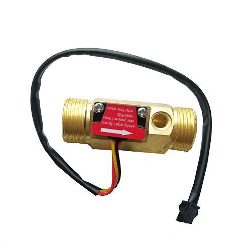 ZEAST G3/4 Flow Sensor Water Flow Sensor Switch For Flow Meter Water Sensor Copper Shell Hall Flow Meter With Temperature
