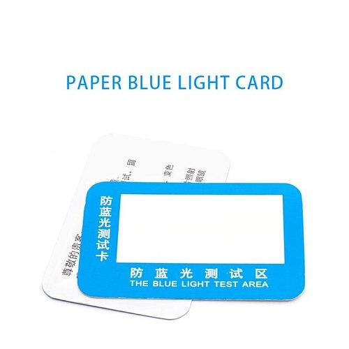 10pcs PVC Anti-Blue Light Test Card Test Light Glasses Blue Light Detection Card
