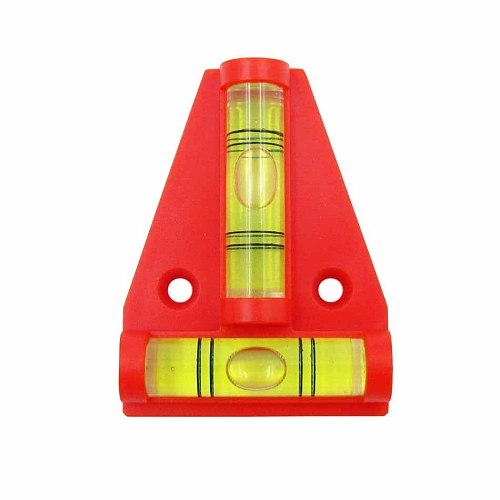 HACCURY Plastic T-type Level Bubble Triangular Red Black Orange Color Acrylic level Vails Ruler Horizontal Instrument