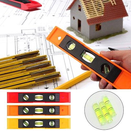 3 Bubble Spirit Level Bubble Ruler Magnetic ABS Shell Vertical Horizontal 45 Degree Bubble Level Measuring Instrument Tool