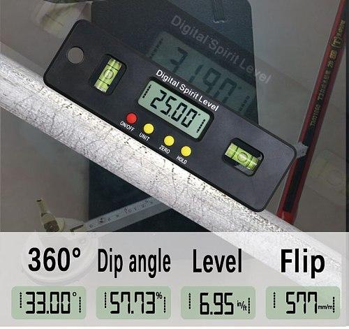 100/150/200mm Digital Level Box Electronic Angle Gauge Protractor Angle Finder Bevel Gauge With Magnetic Base