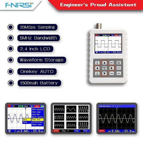 DSO FNIRSI PRO Handheld mini portable digital oscilloscope 5M bandwidth 20MSps sampling rate with P6020 BNC standard probe