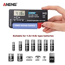 AN-168 POR Digital Lithium Battery Tester Checkered load analyzer Display Check AAA AA Button Cell Universal Capacity test