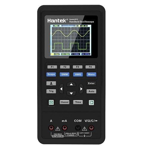 Hantek 3in1 Digital Oscilloscope Waveform Generator Handheld Multimeter USB Portable 2C42 2D42 2C72 2D72