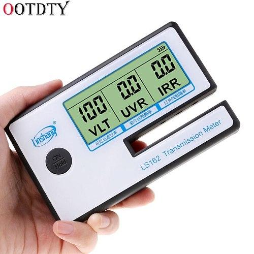 OOTDTY LS162 Window Tint Meter Solar Film Transmission Meter,Filmed Glass Tester ,VLT transmittance meter ,UV IR rejection meter