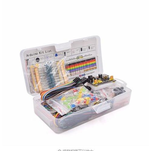 1pcs Electronics Component Basic Starter Kit 830 Tie-points Breadboard Cable Resistor Capacitor LED Potentiometer Box Free Ship