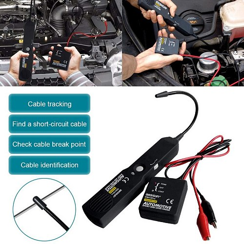 Automotive Wire Tracker Circuit Finder Tester Cable Wire Tracer for tone line test leads Car Wire Meter EM415pro