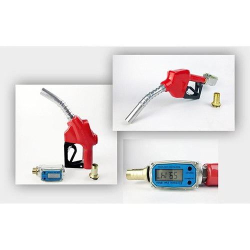 K24 High Accuracy Digital Display LCD Portable Tools Multipurpose Flow Meter Easy Operate Fuel Measuring Electronic Adjustable