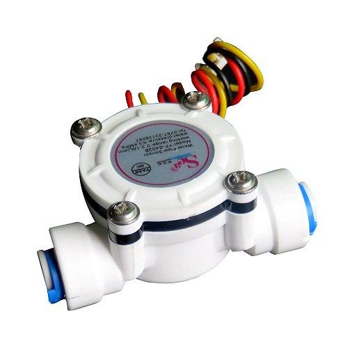 DN6 G1/4 PE Water Meter Flow Sensor Counter Indicator Dispenser Flowmeter 0.3-10L/min