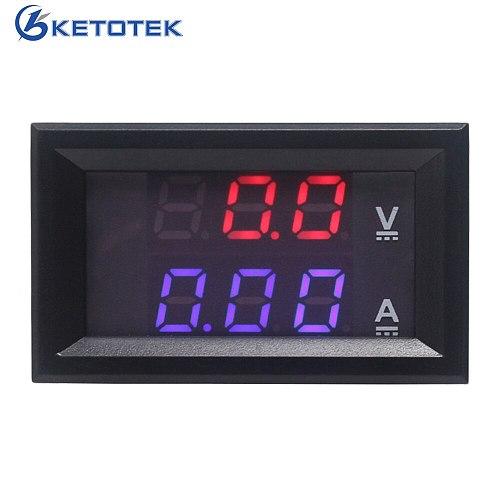DC 0-100V 10A 50A 100A DC Ammeter Voltmeter Digital LED Red Blue Display Car Amp Volt Meter
