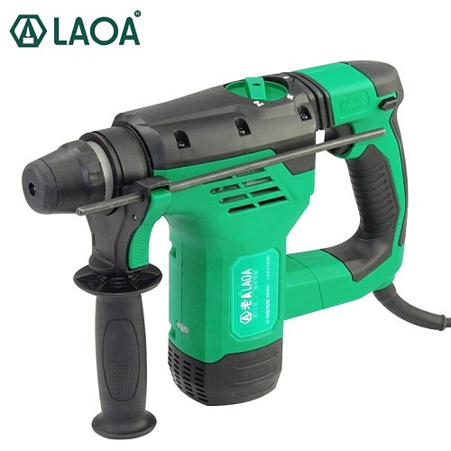 LAOA Heavy Electric Hammer 30mm Impact Drills Power Drill for Wall Concrete Ceramic Drilling 4 joule
