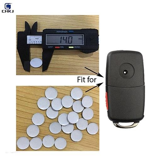 CHKJ 2PCS/LOT 10/12/14mm Car Key Shell Sticker Logo Emblem Symbol For Volkswagen For V W Auto Accessories Car Key Sticker