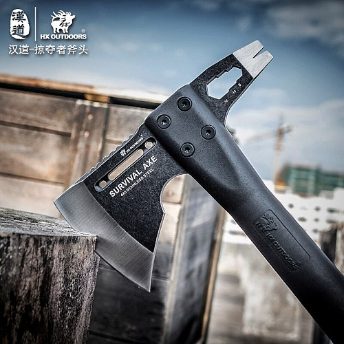 HX OUTDOORS Outdoor Tactical Survival Axe, Camp Axes Mountain Camping tool hand Hunting Tools Kitchen ,Dropshipping